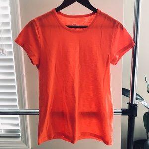 J. Crew Orange Studio T-Shirt Small